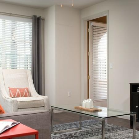 Living area at Andorra Apartments in Camarillo, CA