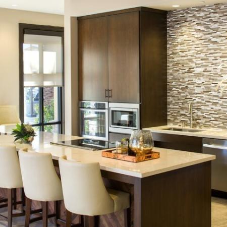 Andorra Apartments Camarillo CA - wood statement ceiling