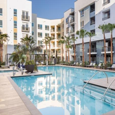 Pool at RIZE Irvine apartments in Irvine CA