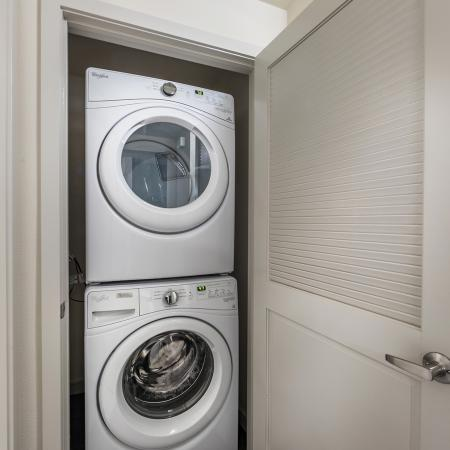 Washer and dryer at Areum Apartments in Monrovia CA