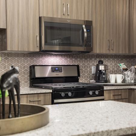 Kitchen at Areum Apartments in Monrovia CA