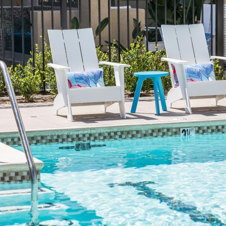 Pool entry at Areum Apartments in Monrovia CA