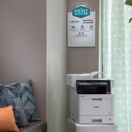 Social lounge printing service at Areum Apartments in Monrovia CA