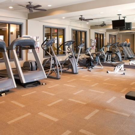 Fitness center at The Alexander at Ghent Apartment Homes in Norfolk, VA