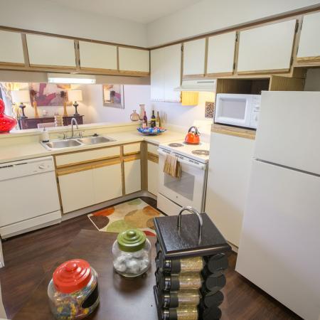 Kitchen at Spring Valley Apartments in Farmington Hills, MI