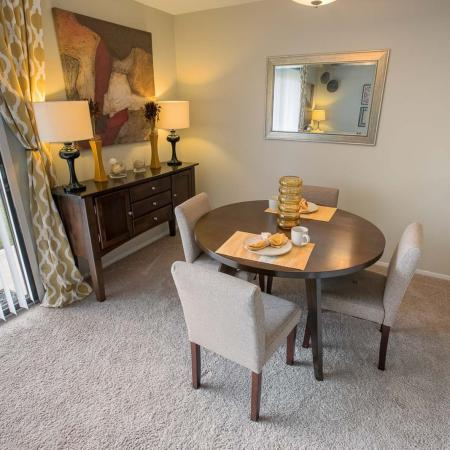 Dining area at Spring Valley Apartments in Farmington Hills, MI