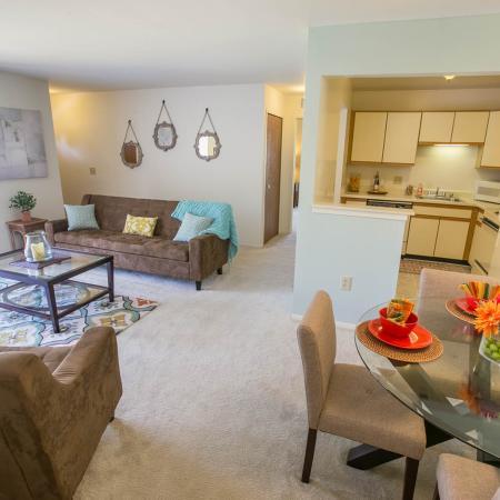 Open floorplans at Oaks at Hampton Apartments in Rochester Hills, MI