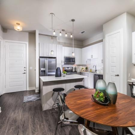 2 Bedroom kitchen at Inwood Station apartments in Dallas TX