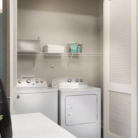 Washer and Dryer at at Inwood Station apartments in Dallas TX