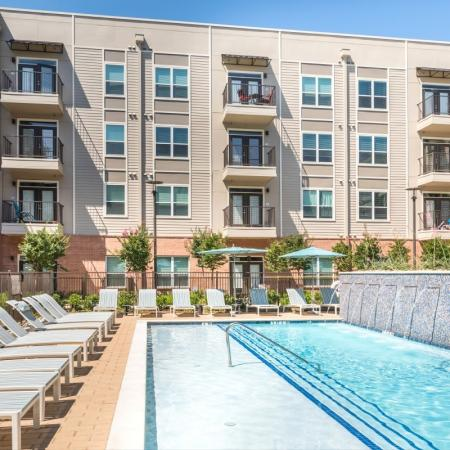 Swimming pool at Inwood Station Apartments in Dallas, TX