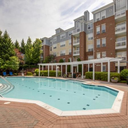 Swimming pool at The Montgomery Apartments in Bethesda, MD