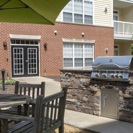 Outdoor kitchen at The Montgomery Apartments in Bethesda, MD