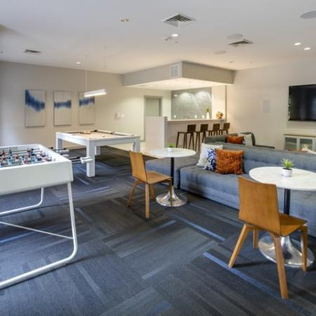 Recreation room at The Montgomery Apartments in Bethesda, MD