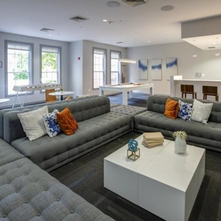 Resident lounge at The Montgomery Apartments in Bethesda MD