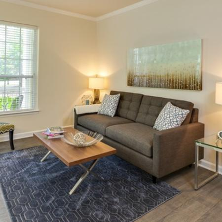 Living room at The Montgomery Apartments in Bethesda, MD