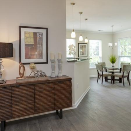 Open floorplans at The Montgomery Apartments in Bethesda, MD