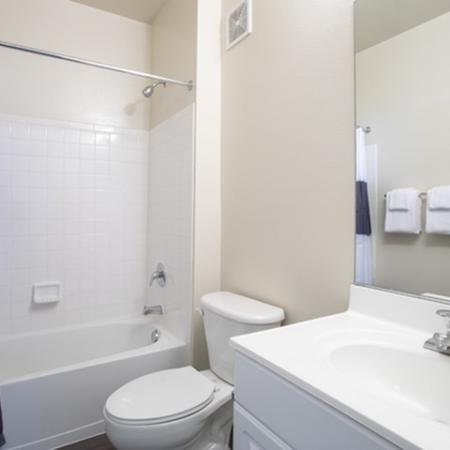 Bathroom at The Montgomery Apartments in Bethesda, MD