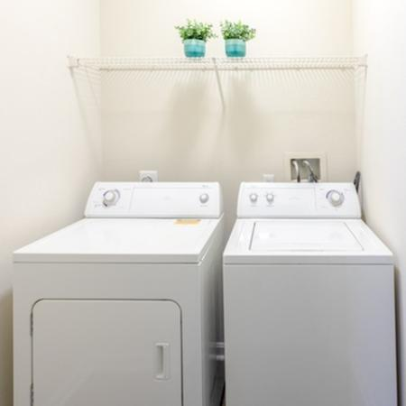 Laundry room atThe Montgomery Apartments in Bethesda, MD