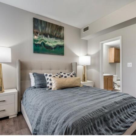 Master bedroom at Reserve at Las Brisas in Irving, TX