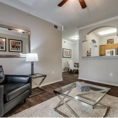 Living room at Reserve at Las Brisas in Irving, TX