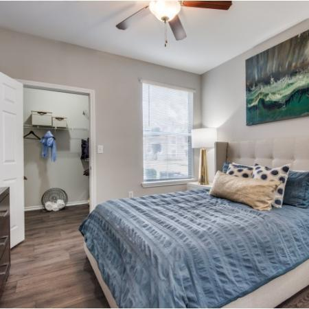 Master bedroom at Reserve at Las Brisas in Irving, TX