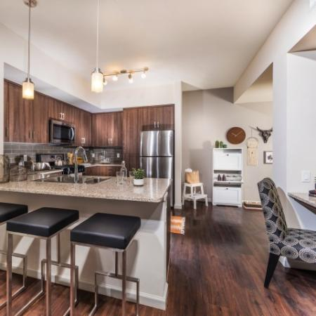 Kitchen at Andorra Apartments in Camarillo, CA