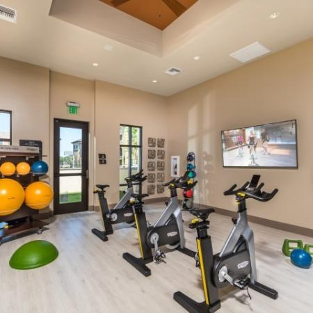 Fitness center at Andorra Apartments in Camarillo, CA