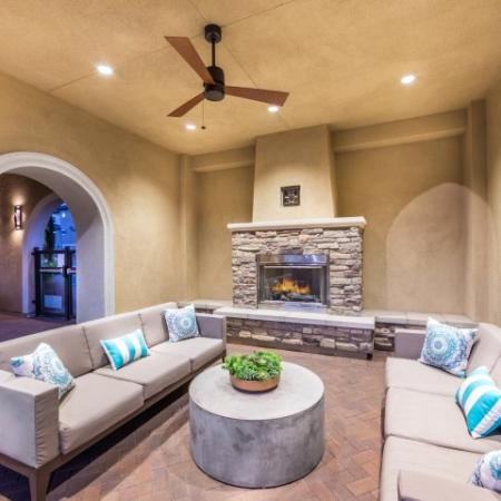 Outdoor fire seating at Andorra Apartments in Camarillo, CA