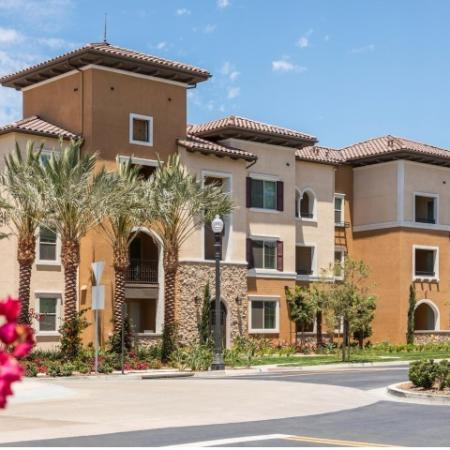 Exterior of the building at Andorra Apartments in Camarillo, CA