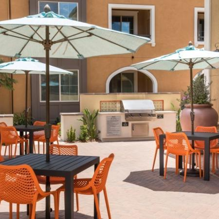 Gas grills at Andorra Apartments in Camarillo, CA