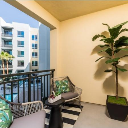 Private balcony at RIZE Irvine apartments in Irvine, CA