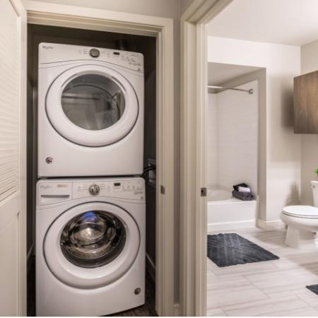 In unit Washer and Dryer at RIZE Irvine apartments in Irvine, CA