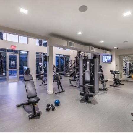 Fitness Center at RIZE Irvine apartments in Irvine, CA