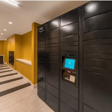 The HUB by Amazon at RIZE Irvine apartments in Irvine, CA