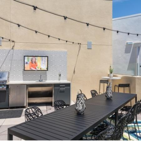 Rooftop Lounge at RIZE Irvine apartments in Irvine, CA