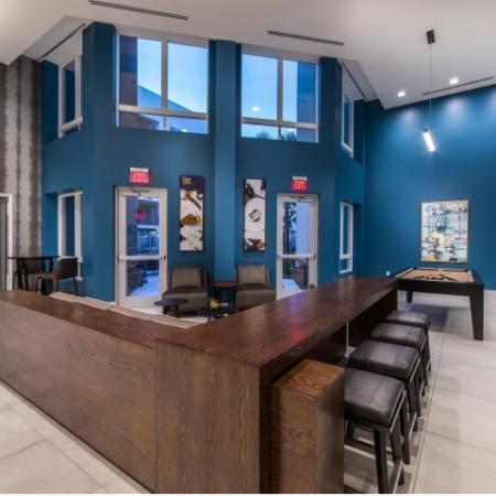 Social Lounge at RIZE Irvine apartments in Irvine, CA
