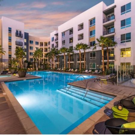 Swimming Pool at RIZE Irvine apartments in Irvine, CA