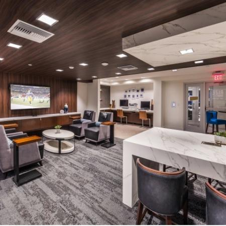 Community Workspace at RIZE Irvine apartments in Irvine, CA