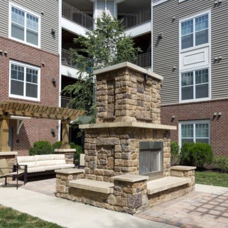Enclave at Potomac Club Apartments in Woodbridge, VA fireplace