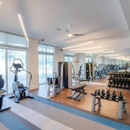Free weight stations ORA Flagler Village Apartments in Fort Lauderdale Florida