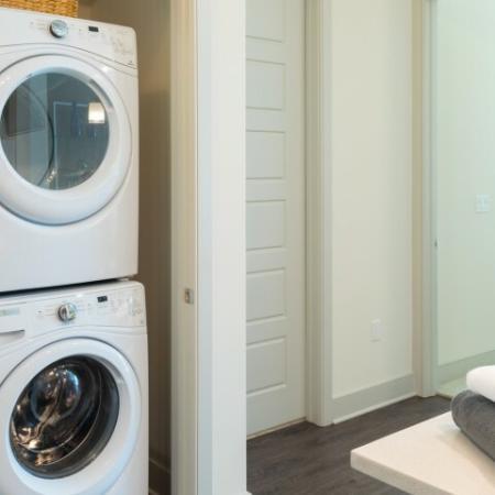 Stackable front loading washer dryer ORA Flagler Village Apartments in Fort Lauderdale Florida