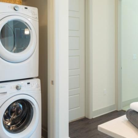 Stackable front loading washer dryer ORA Flagler Village Apartments in Fort Lauderdale Florida
