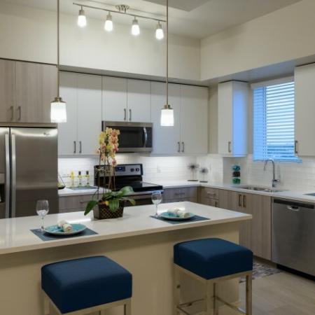 Kitchen at Ora Flagler Village apartments in Fort Lauderdale, FL