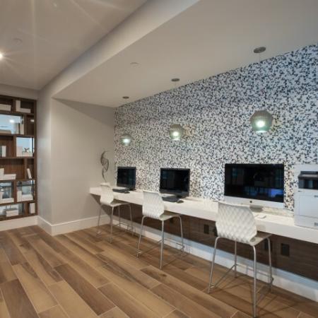 Cyber lounge at ORA Flagler Village apartments in Fort Lauderdale, FL