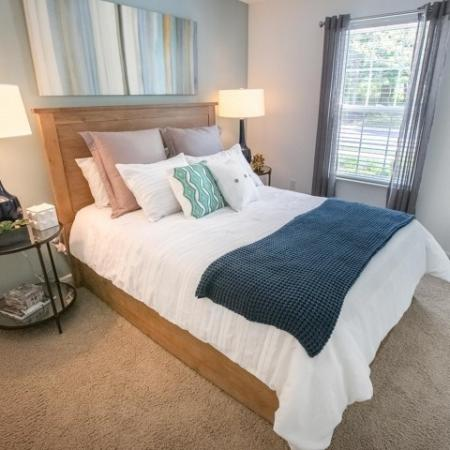 Bedroom at The Village of Western Reserve Apartments in Streetsboro, OH