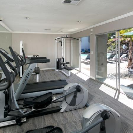 Fitness center at Bayside Apartments in Pinole CA
