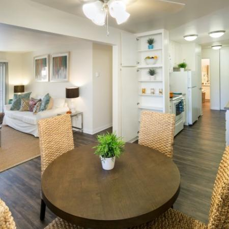 Model dining at Bayside Apartments in Pinole CA