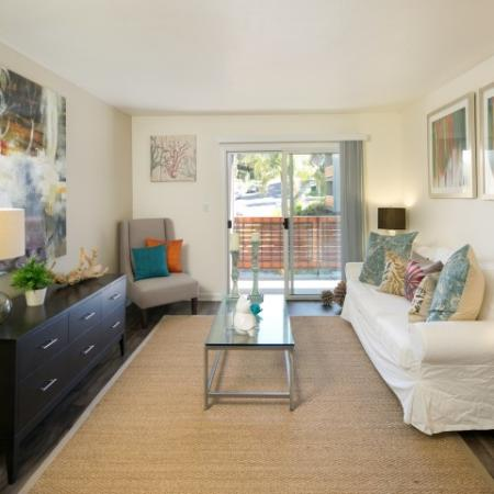 Model living at Bayside Apartments in Pinole CA