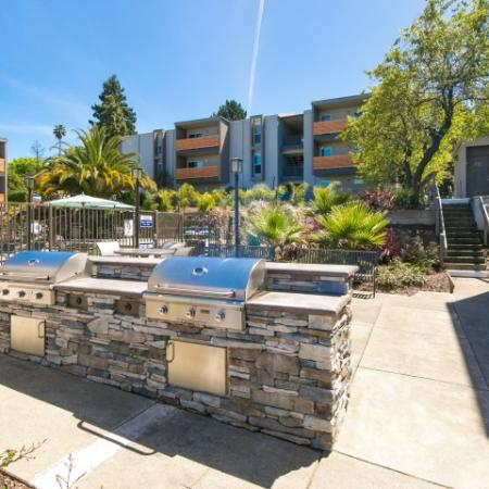 BBQ area at Bayside Apartments in Pinole CA