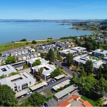Arial View at Bayside Apartments in Pinole CA